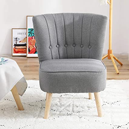 Chester Fabric Accent Occasional Tub Chair Armchair Lounge Bedroom Dark Grey Amazon Co Uk Office Products