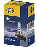 HELLA 8GH 008 356-181 Glühlampe Blue Light, Halogen Scheinwerferlampe für Hauptscheinwerfer, H8, 35W, 12V
