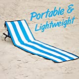 June & May Beach Chairs – Compact, Portable, Light-weight, Easy Set-Up, with Storage Pouch and Adjustable Back Beach Lounge Chairs