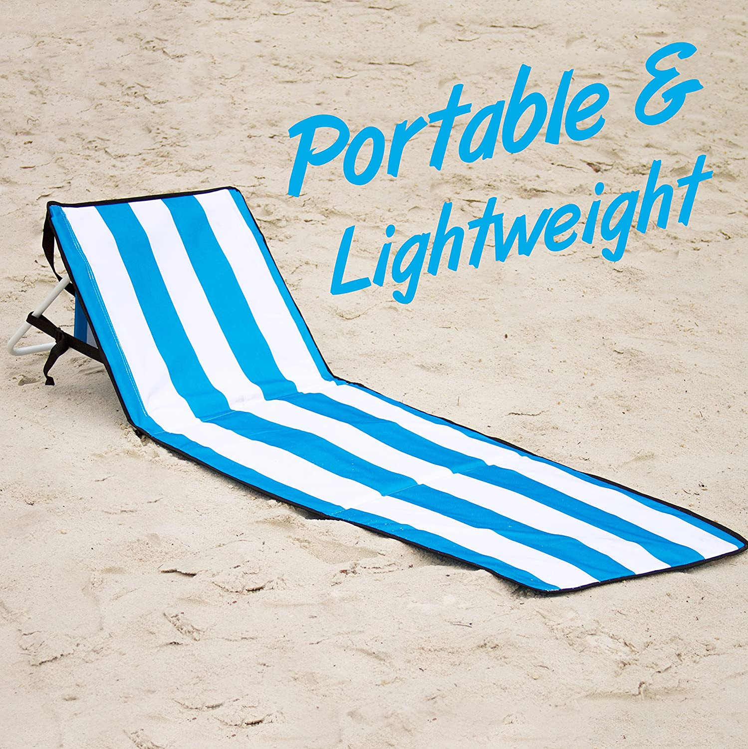 Beach lounge chair portable - Amazon Com June May Beach Chairs Compact Portable Light Weight Easy Set Up With Storage Pouch And Adjustable Back Beach Lounge Chairs Patio