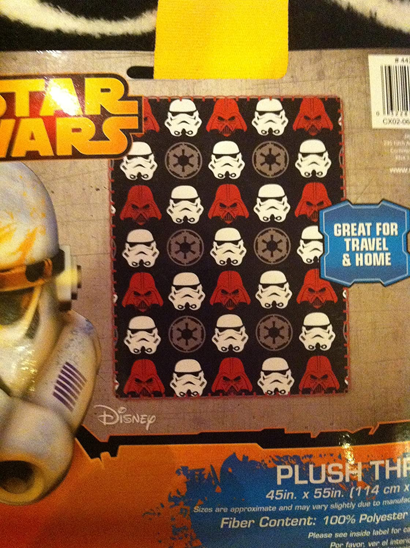 STAR WARS Plush Throw, Darth Vader & Storm Troopers B01CRHW8XK