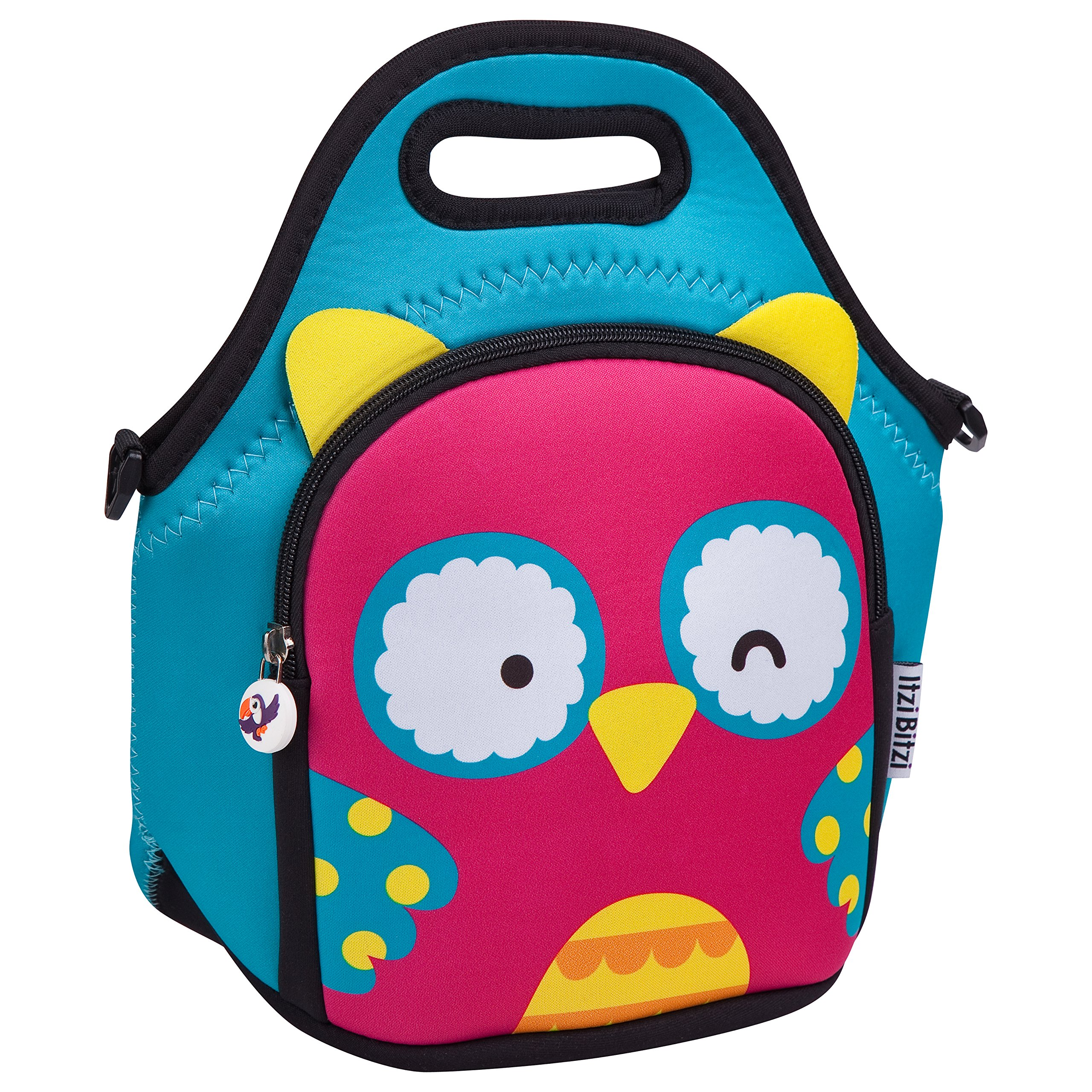 Waterproof, Insulated Kids Neoprene Lunch Bag with Adjustable Strap by Itzi Bitzi - Owl