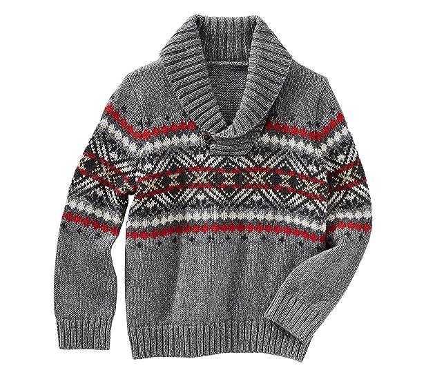 Amazon.com: OshKosh B'Gosh Baby Boys' Fair Isle Pullover Sweater ...