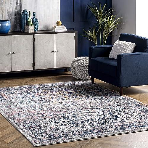 nuLOOM Lilah Medallion Vintage Area Rug - a good cheap living room rug