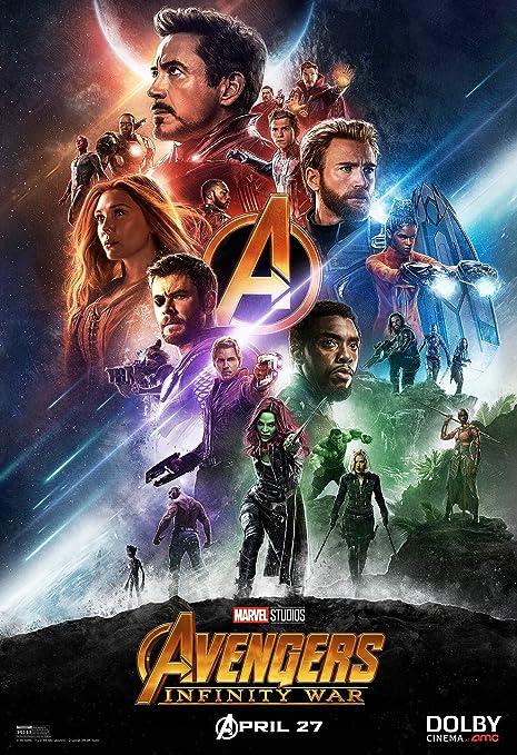 Avengers Infinity War Movie Poster Limited Print Photo Chris Hemsworth Pratt Evans Tom Hiddleston