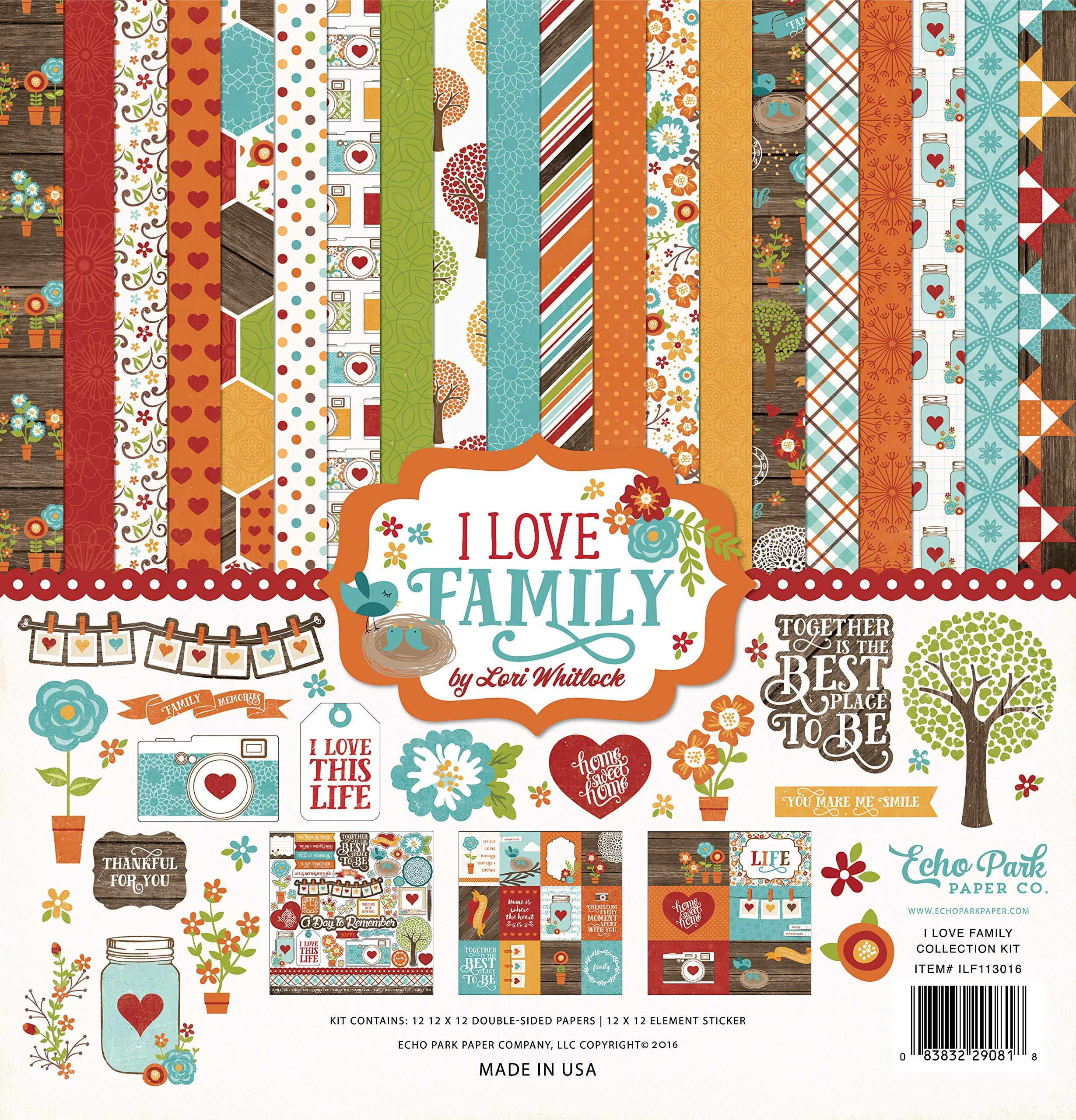 Echo Park Paper Company I I Love Family Collection Kit