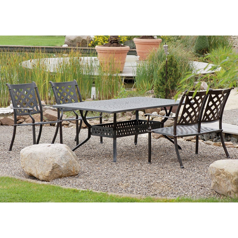 Inko Sitzgruppe Aluguss Serie Duke Bronze Gartentisch Gartenbank