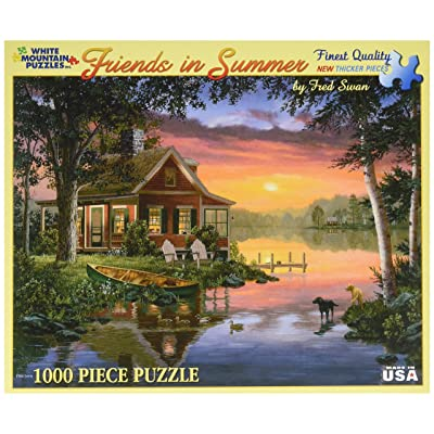 White Mountain Puzzles Friends in Summer - 1000 Piece Jigsaw Puzzle: Toys & Games