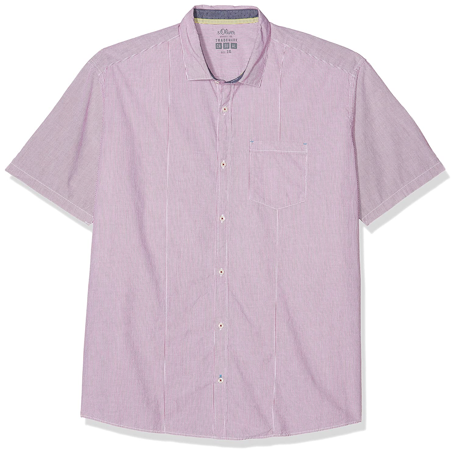 15.804.22.2198, Camisa Casual para Hombre, Rot (Cool Grape 46g9), XXXL s.Oliver