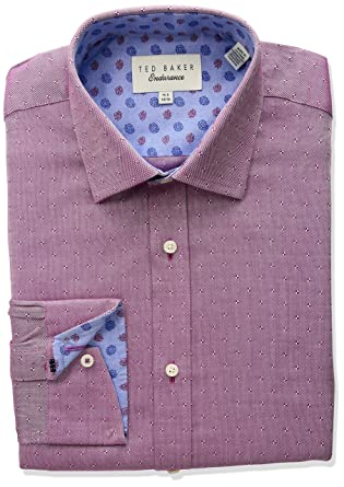733793d653cd Amazon.com  Ted Baker Men s Jamer Slim Fit Dress Shirt  Clothing