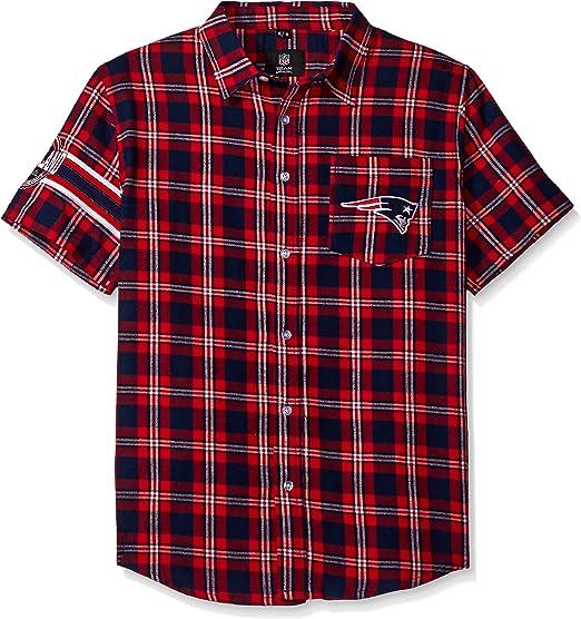 New England Patriots Wordmark Basic Flannel Shirt Medium
