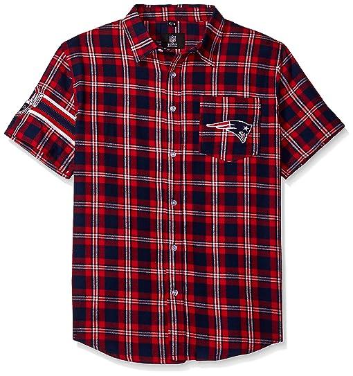 Amazon Com New England Patriots Wordmark Basic Flannel Shirt
