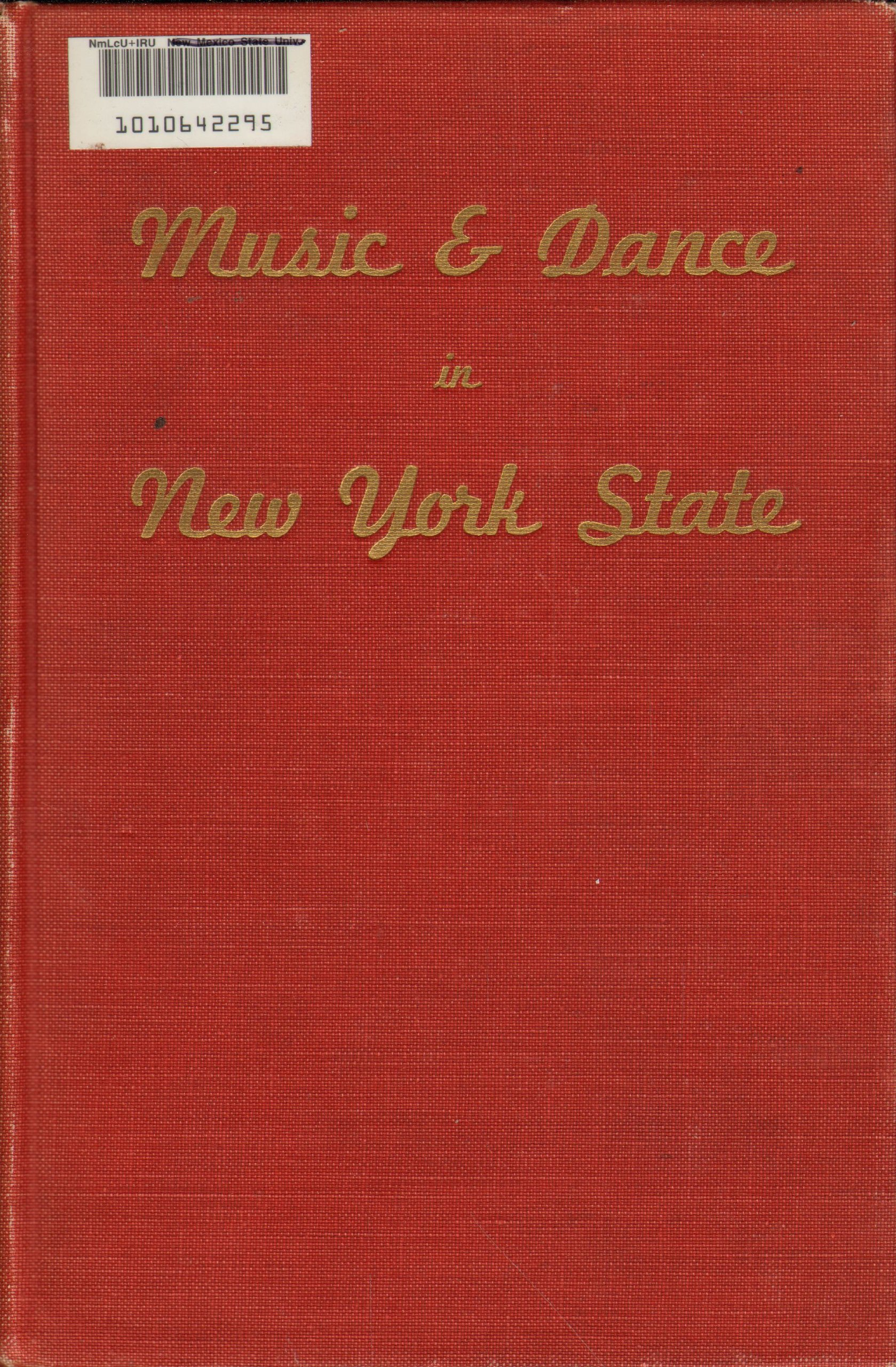 Music and Dance in New York State