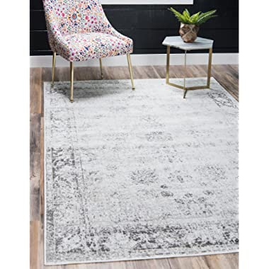 Unique Loom 3134033 Area Rug, 8' x 10' Rectangle, Gray