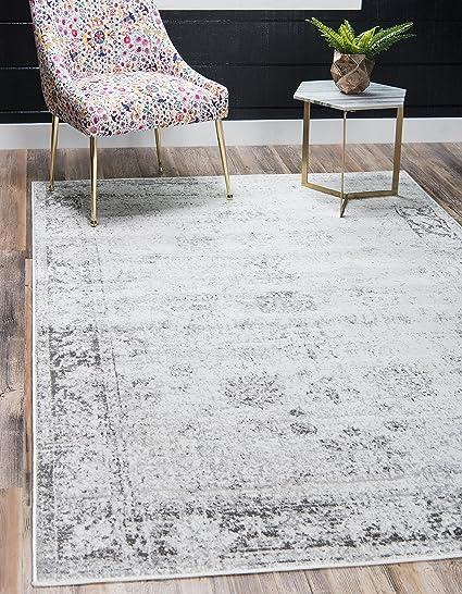Amazoncom Unique Loom Sofia Collection Traditional Vintage Gray