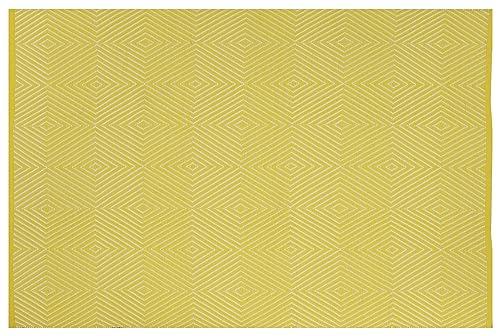 Fab Habitat Zen Indoor Outdoor Polypropylene Rug, Yellow White, 5 x 8