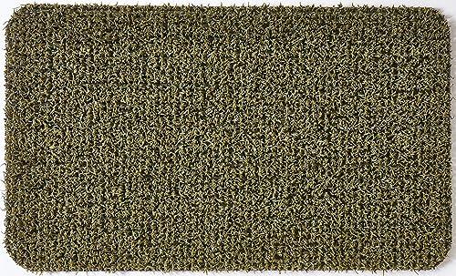 GrassWorx Clean Machine Flair Doormat, 18 x 30 , Urban Green 10376434