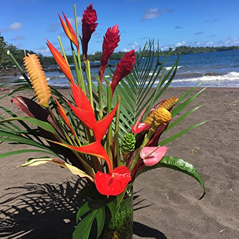 amazon com large hawaiian tropical flower arrangement garden