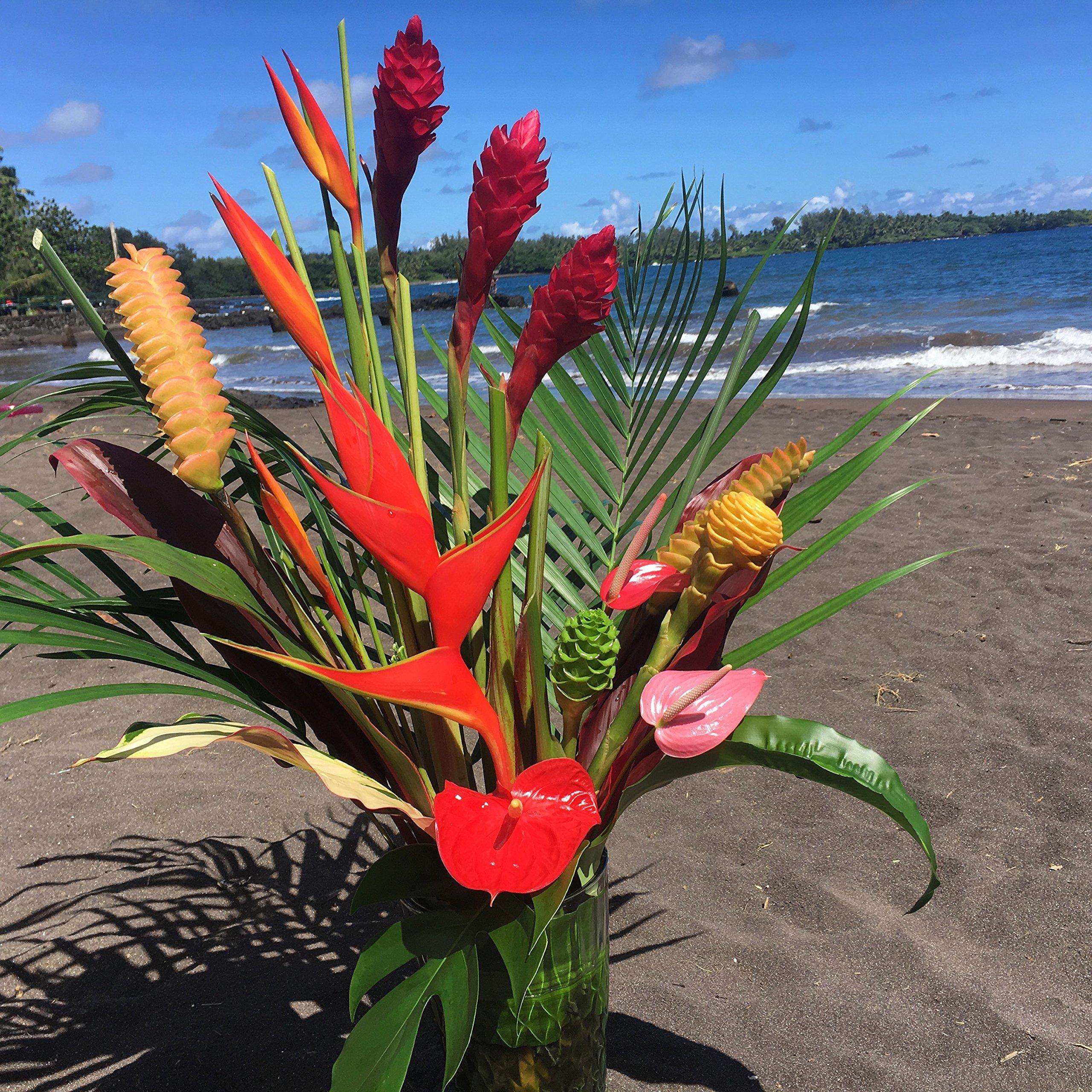 Large Hawaiian Tropical Flower Arrangement
