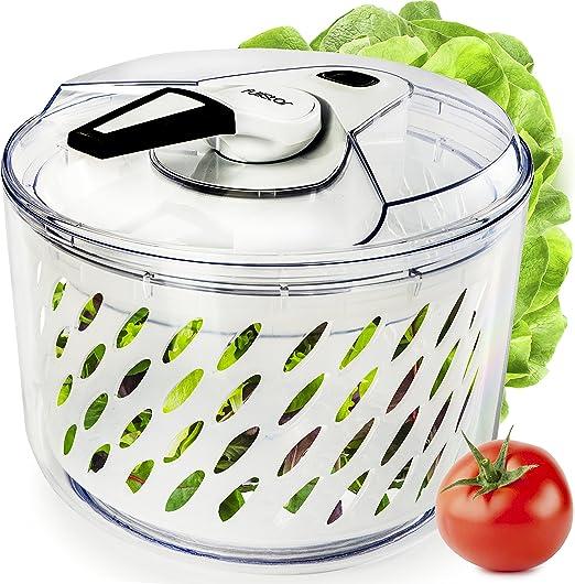 Amazon.com: Grande para ensalada spinner secador de lechuga ...