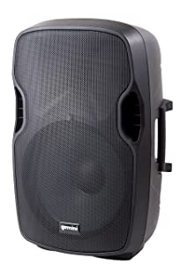 """Gemini AS Series AS-08BLU Professional Audio Bluetooth 8-inch Portable Active PA Loudspeaker with High/Low Equalization and Gain Control, Mic and Line XLR, 1/4"""", 1/8"""" & RCA inputs"""
