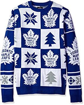 NHL Toronto Maple Leafs Unisex Patches Ugly Crew Neck Sweater - Mens Extra  Large 4063d1427