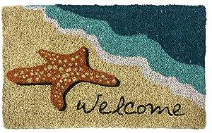 "Entryways Starfish Welcome Hand Made Coir Doormat 18"" x 30"""