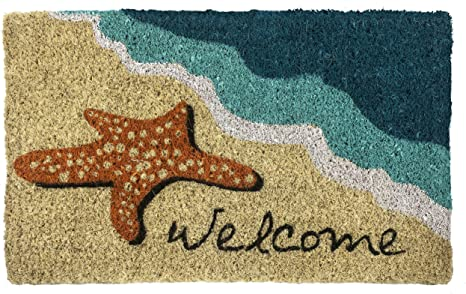 Door Mats At the Shore Beach Themed Rubber Doormats Made in USA Look Like Wood