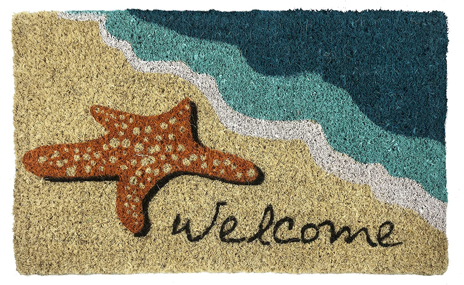 Entryways Starfish Welcome Doormat