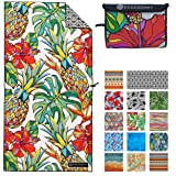 ECCOSOPHY Microfiber Beach Towel - Quick Dry Pool Towels 71x35 inches Oversized Travel Towel - Lightweight Compact Beach…
