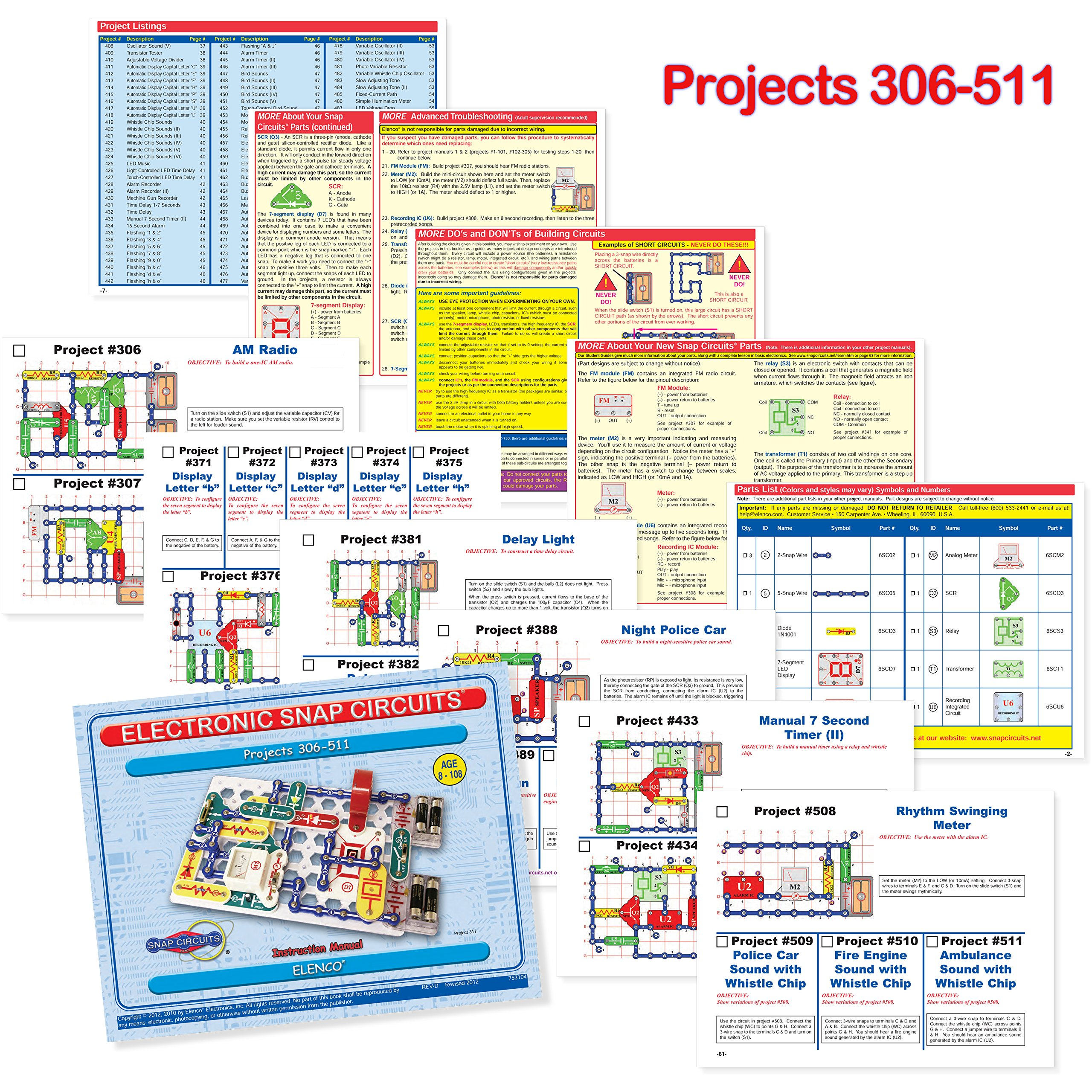Snap Circuits PRO SC-500 Electronics Exploration Kit + Student Training Program with Student Study Guide   Perfect for STEM Curriculum by Snap Circuits (Image #6)