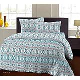 Bombay Dyeing Breeze Plus Collection Flat Double Bedsheet Set, 274 x 274 cm, Blue, 5078 B