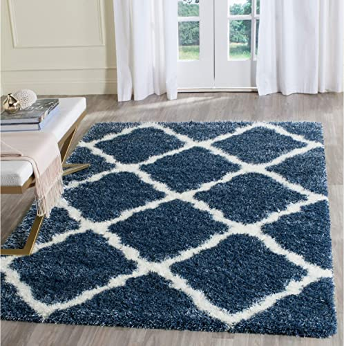 Safavieh Montreal Shag Collection SGM866A Trellis 2-inch Thick Area Rug