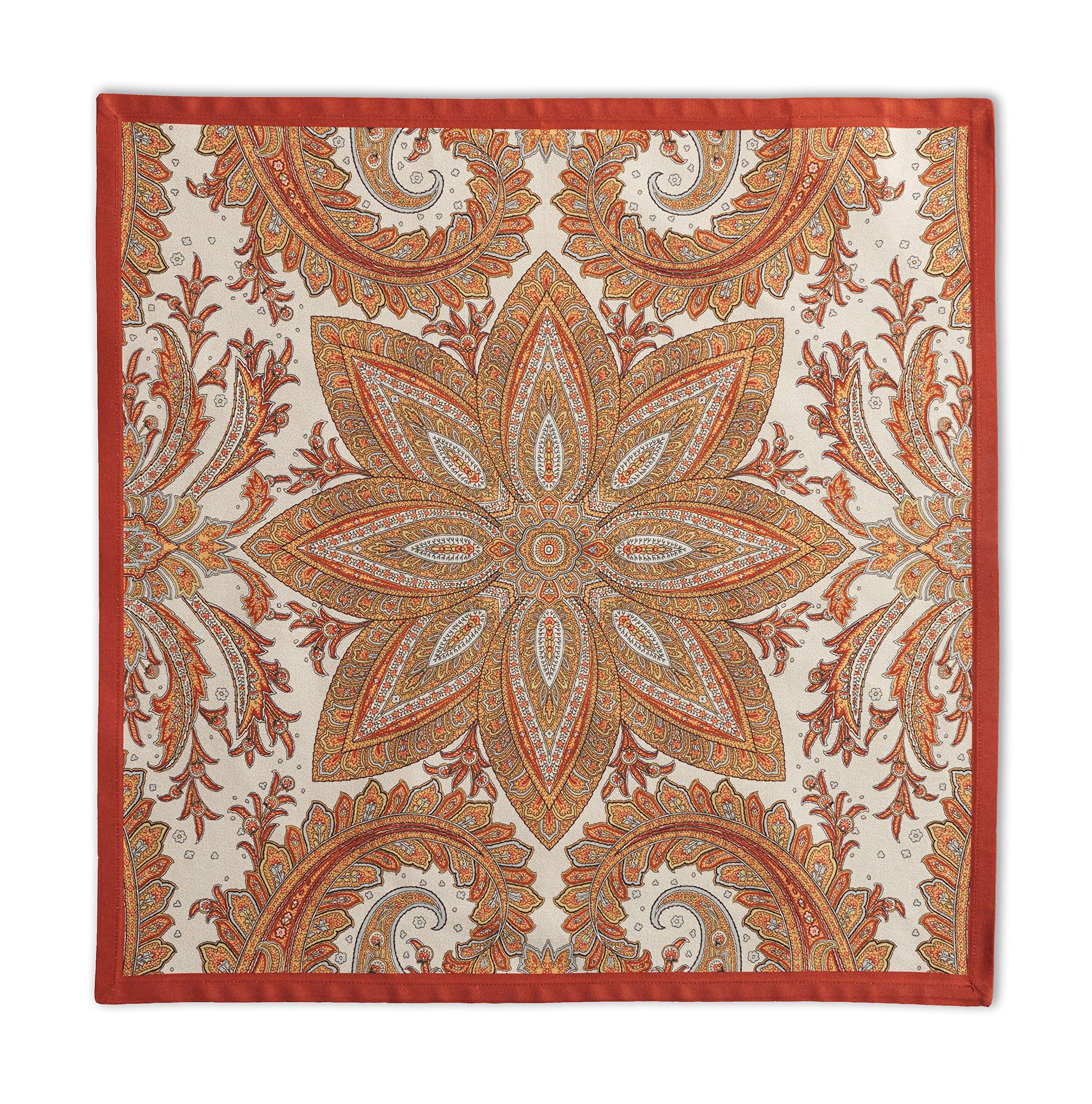 Maison d' Hermine Kashmir Paisley 100% Cotton Set of 4 Napkins, 20 - inch by 20 - inch.