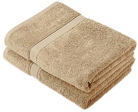 Pinzon by Amazon - Juego de toallas de algodón egipcio (2 toallas de baño). Pasa el ratón por ...