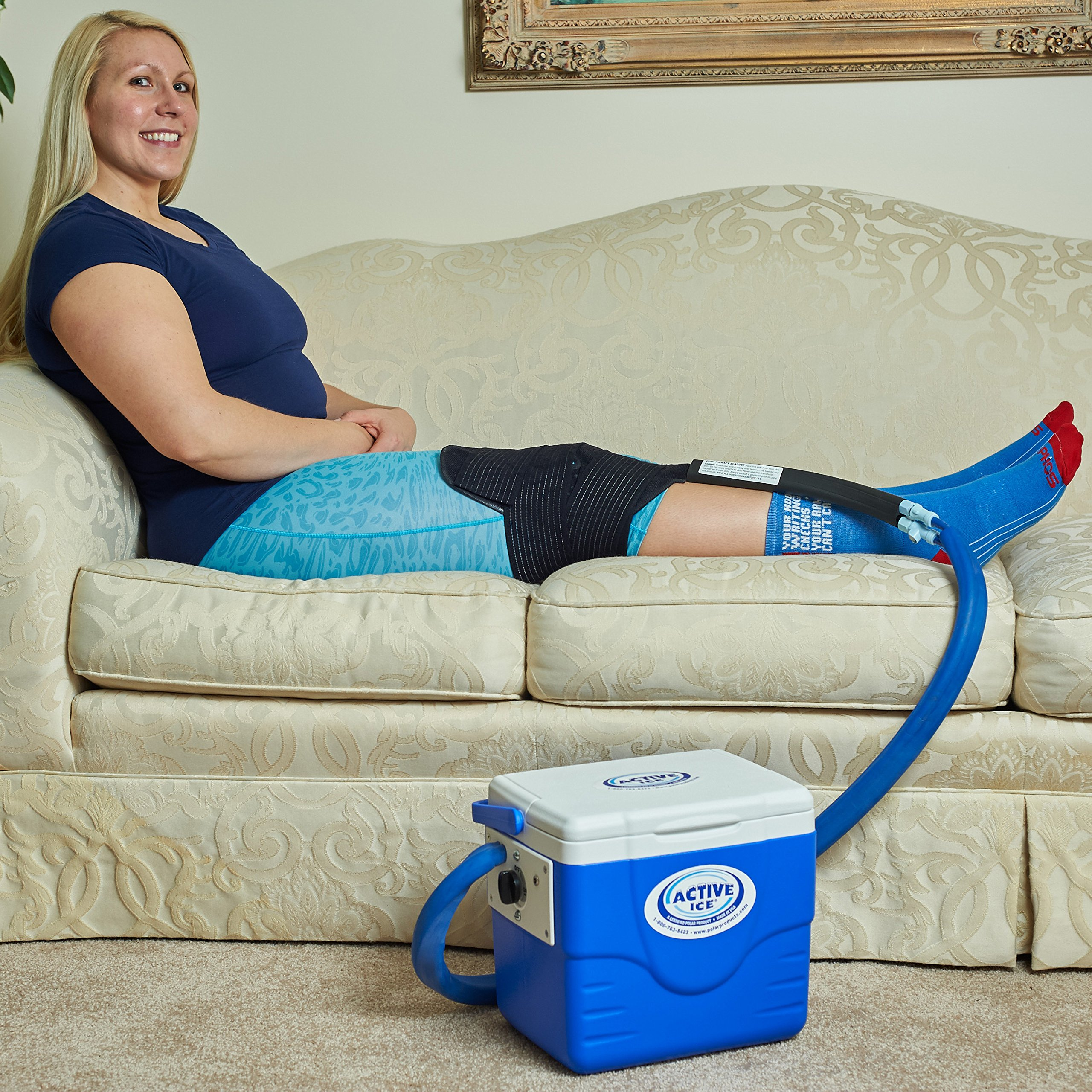 Polar Products Active Ice Therapy System 2.0 with Knee Compression Wrap