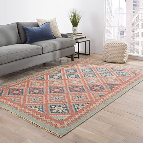 Jaipur Living Ottoman Reversible Flatweave Tribal Red Area Rug 2 X 3