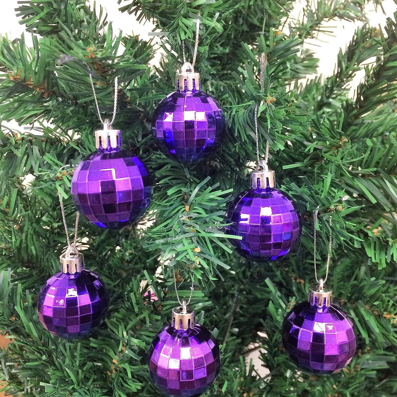 Amazoncom 12Pcpack Disco Ball Shatterproof Christmas Ball Ornaments 40Mm (1 916