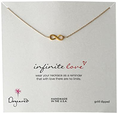 Amazon dogeared small infinite love infinity necklace 16 gold dogeared small infinite love infinity necklace 16quot gold dipped aloadofball Image collections