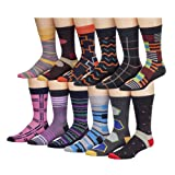 Amazon Price History for:James Fiallo Mens 12 Pack Patterned Dress Socks
