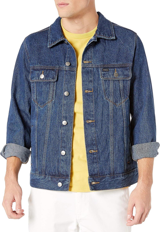 RVCA mens Daggers Denim Jacket Cotton Lightweight Jacket