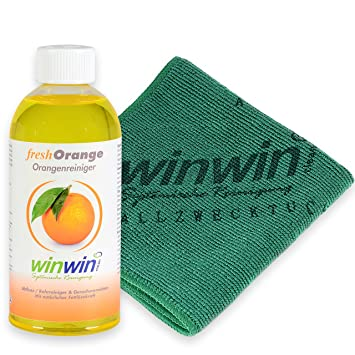 winwinclean Fresh naranja 500 ml I inkl. Universal toalla 32 x 32 cm: Amazon.es: Hogar