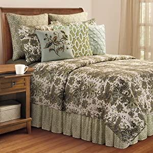 C&F Home Ezmeralda 3 Piece Quilt Set All-Season Reversible Bedspread Oversized Bedding Coverlet, King Size, Green