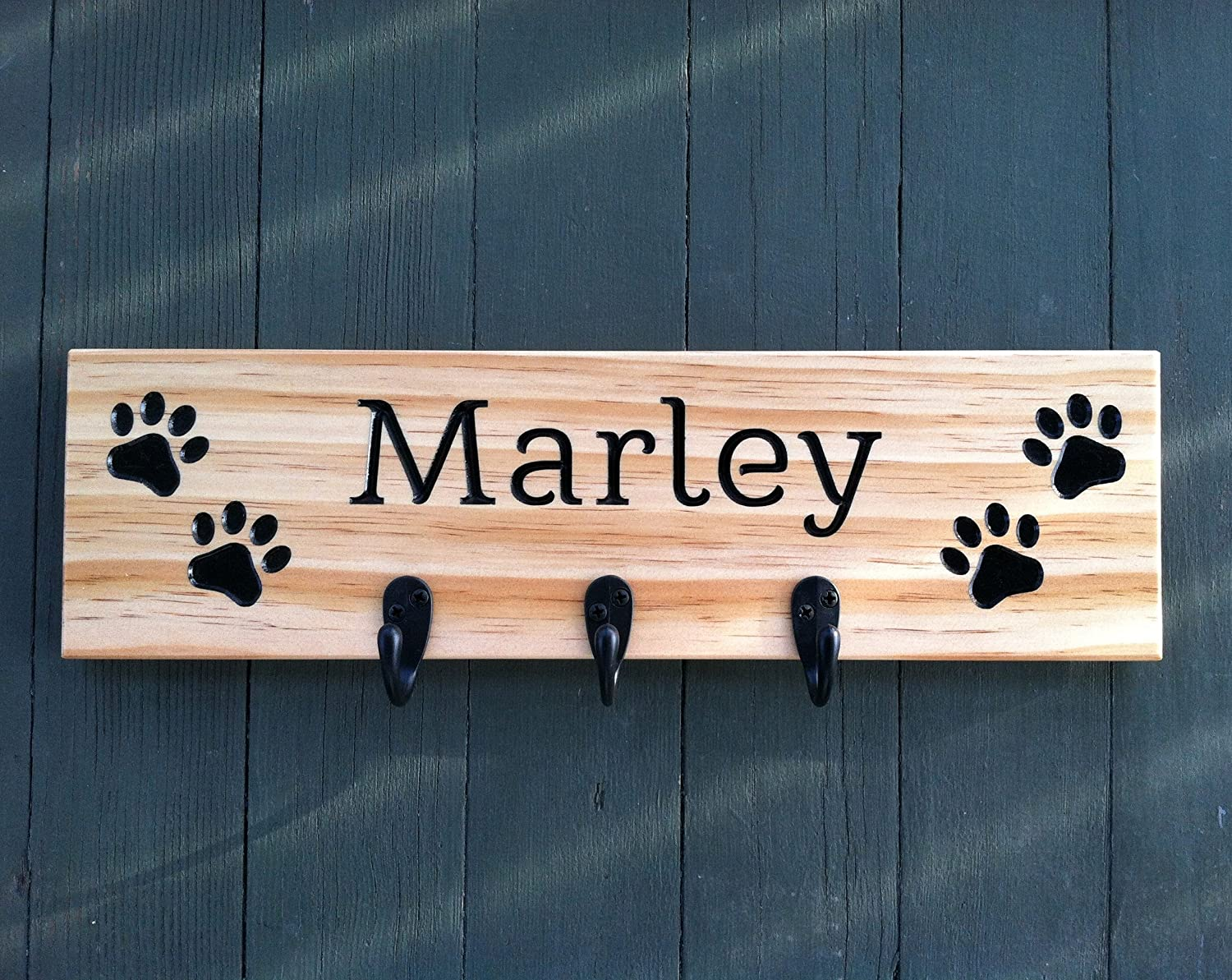 Personalized Dog Leash Holder, Dog Leash Holder Wall, Dog Leash Hook, Dog Leash Hooks, Pet Leash Holder, Dog Leash Hanger