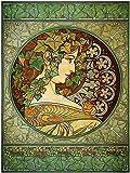 ALPHONSE MUCHA LAUREL 1901 OLD MASTER ART PAINTING PRINT 12x16 inch 30x40cm POSTER REPRO 119OM