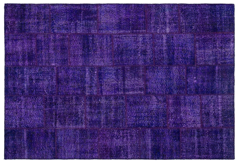 Bespoky パッチワークユニーク 手織 ラグ 紫の 大きいサイズ 190 X 280 Cm   B07HNH4NNV