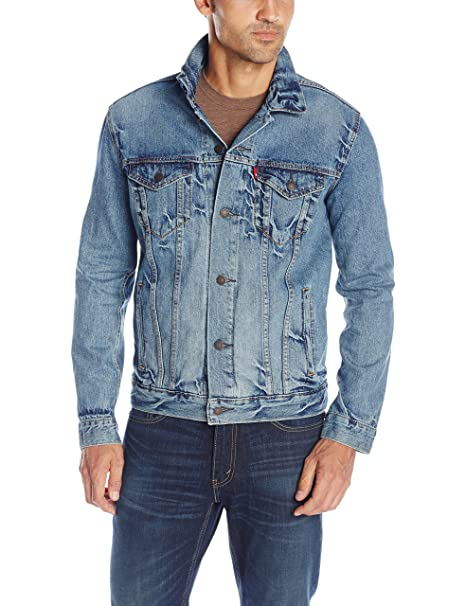 Levis Mens The Trucker Jacket, Spire, Large: Amazon.es ...