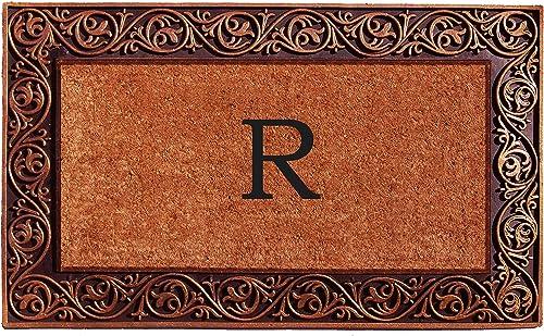Home More 10003BRNZR Prestige Bronze Monogram Doormat Letter R