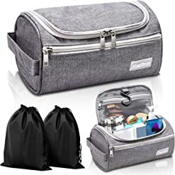 efd755ff5d4c Travel Toiletry Bag – Small Portable Hanging Cosmetic Organizer for Men    Women