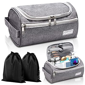 876b0269da3b Travel Toiletry Bag – Small Portable Hanging Cosmetic Organizer for Men  Women, Makeup, Toiletries,...